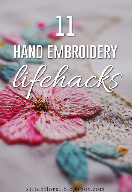 hand embroidery tips