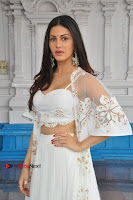Telugu Actress Amyra Dastur Stills in White Skirt and Blouse at Anandi Indira Production LLP Production no 1 Opening  0090.JPG