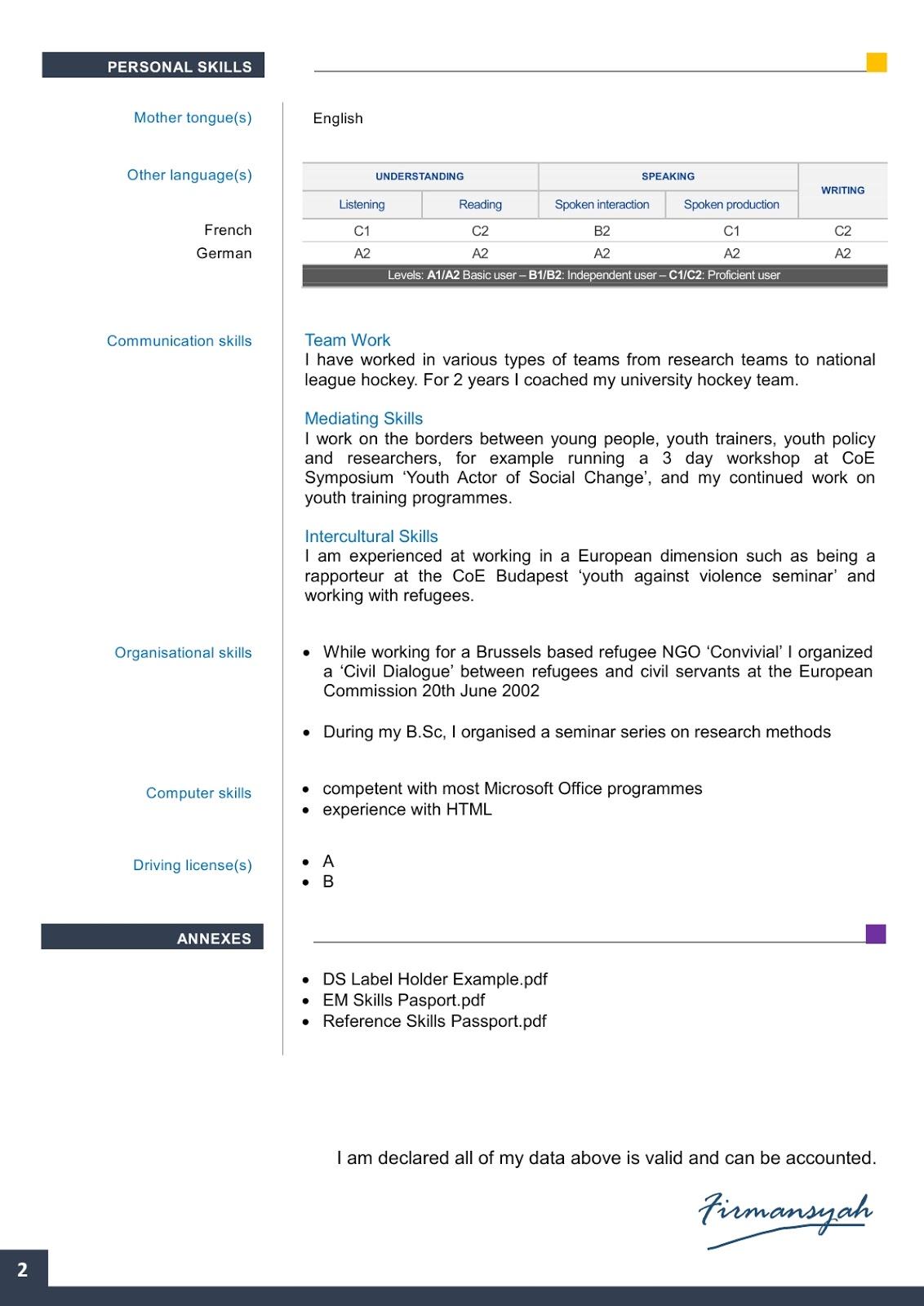 Contoh Format Cv Frodo Fullring Co