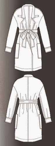 patrón gratis gabardina o chaquetón