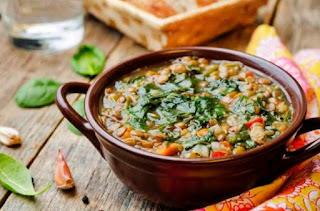 Recetas con albahaca - Sopa de verduras frescas