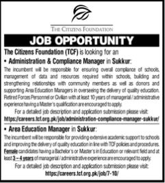 JOBS | The Citizens Foundation (TCF)