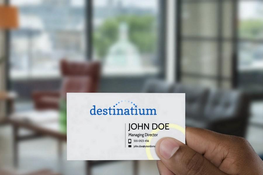 Destinatium Card Mock Brand