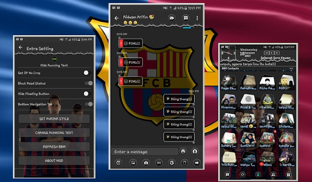BBM Mod Barcelona v3.3.0.16 Apk New Themes 2017