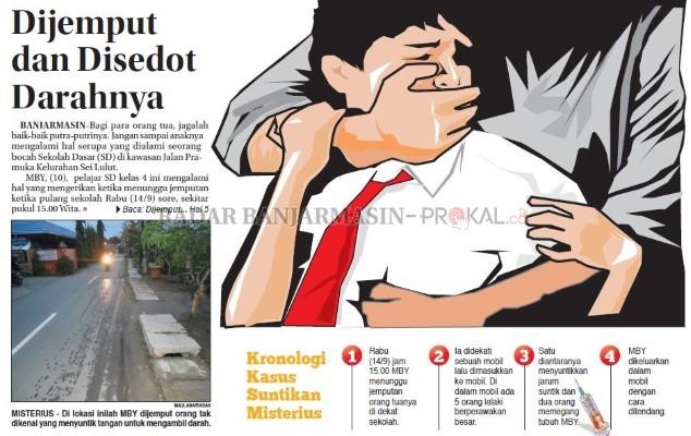 LAGI-LAGI HEBOH !!! Kasus baru anak Di Jemput Waktu Pulang Sekolah Dan Darahnya Di Sedot Orang Tidak Di Kenal.. Tolong Sebarkan..!!!