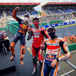 Para pemenang motoGP Le Mans