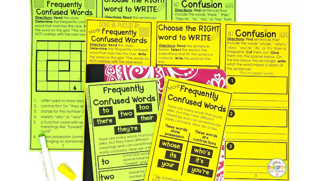 Help your students master the use of frequently confused words with these fun print and fold activities!