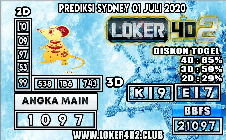 PREDIKSI TOGEL SYDNEY  LOKER4D2 01 JULI 2020