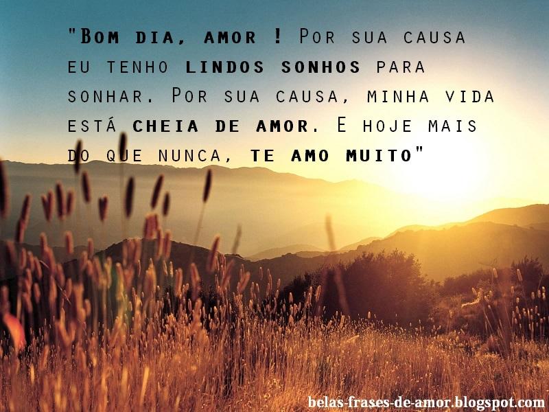 Belas Frases De Amor Bom Dia Amor Por Sua Causa Eu Tenho Lindos