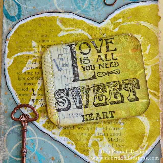 Sweetheart Valentine Mixed Media Plaque Detail