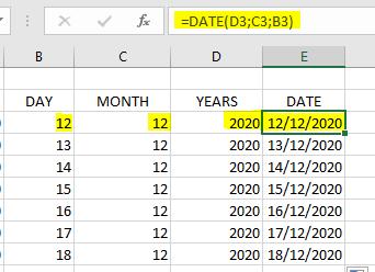 Rumus Date Excel