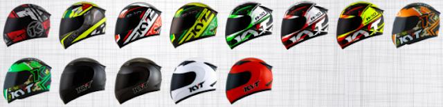 Pilihan warna helm KYT R10