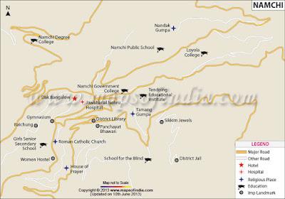 Namchi Map