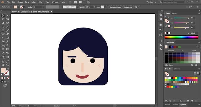 Flat Vector Character in Adobe Illustrator