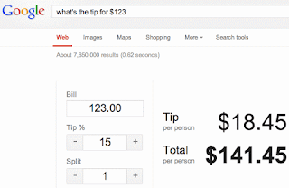 how to use google tip calculator