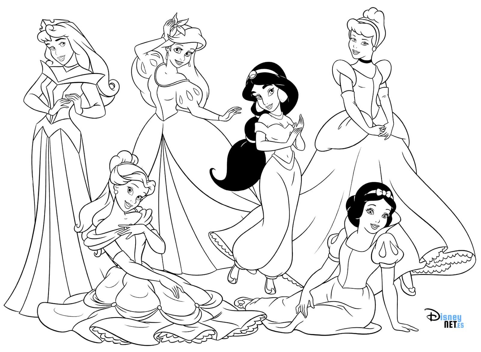 Imprimir 21 Desenhos Das Princesas Da Disney Para Pintar