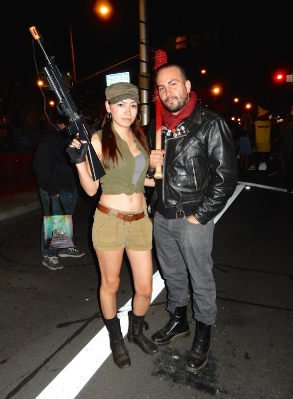 West Hollywood Halloween Walking Dead Rosita Negan costumes