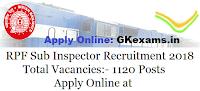 RPF Sub Inspector Recruitment 2018