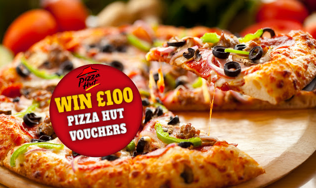 Get a $100 Pizza Hut Gift Card for free in 3 min