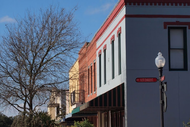 Where to go on the Houston to Austin drive: Main Street in Brenham, Texas