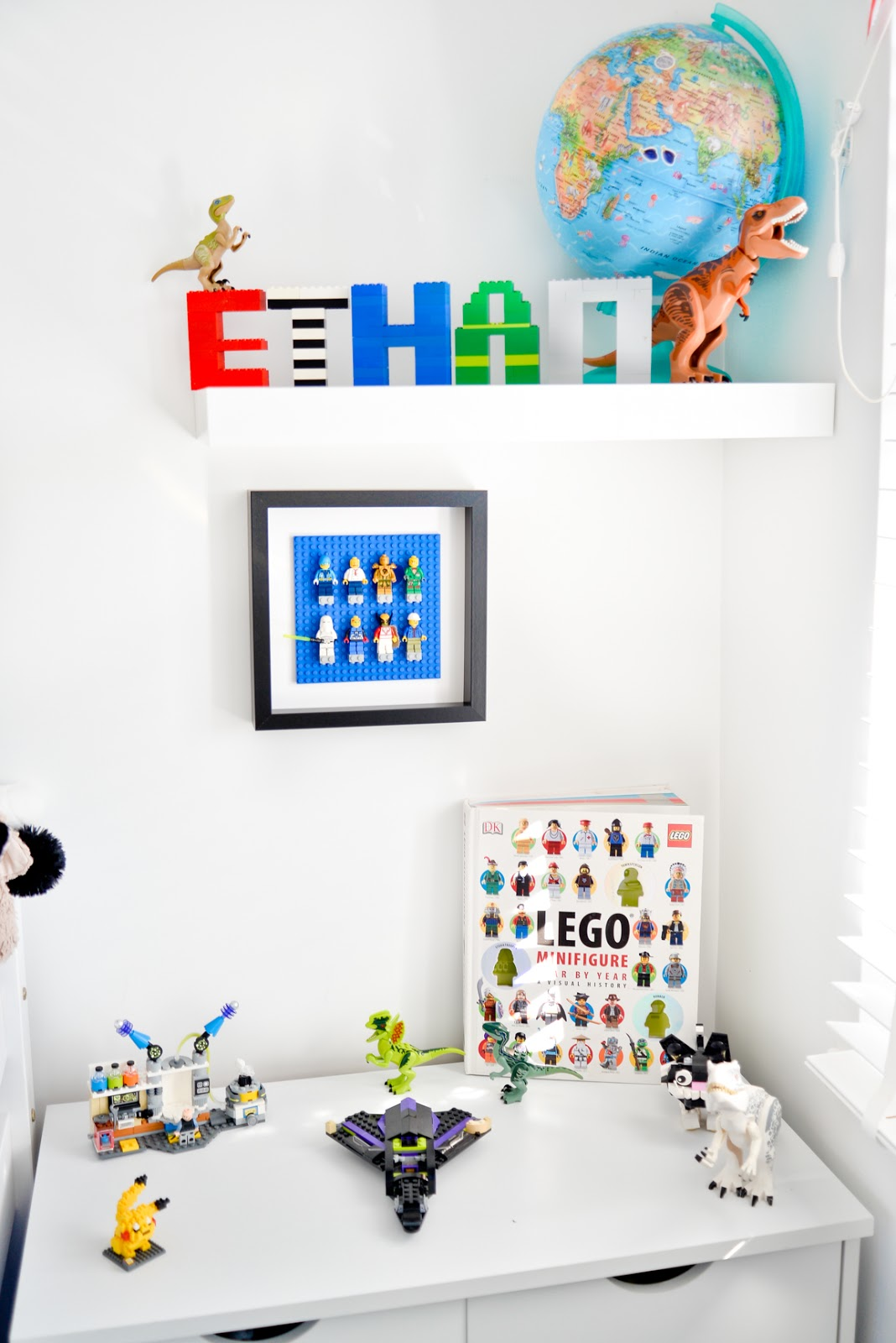 lego ideas, lego decor, lego diy, lego storage, lego name, lego letters, lego minifigure display, lego display ideas,