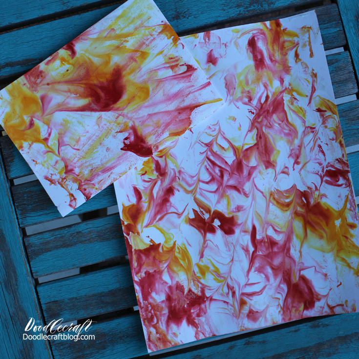 Doodlecraft: Marbled Paper with Shaving Cream!