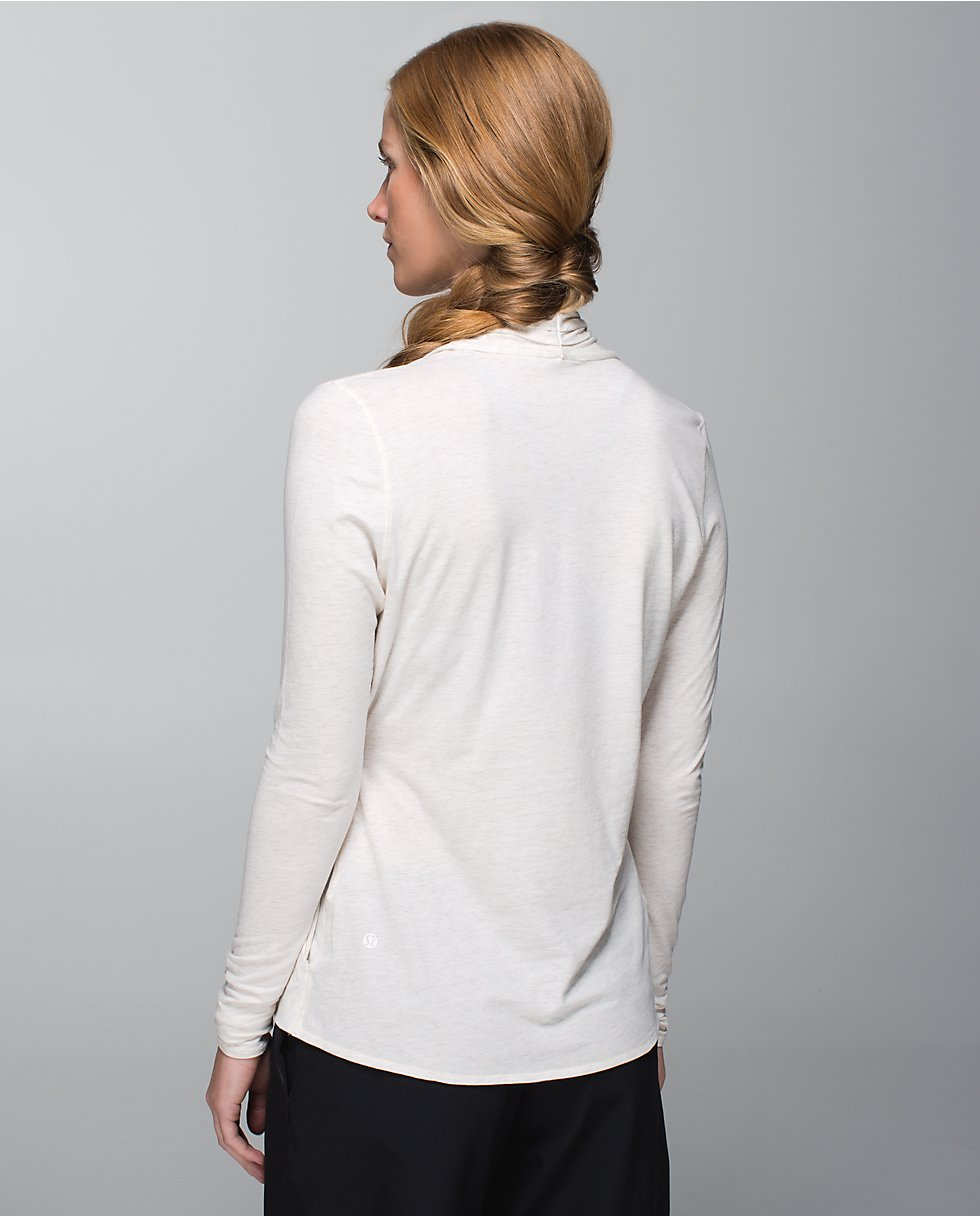 lululemon radiant ls top angel wing back