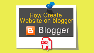 How Create Free Website On Blogger