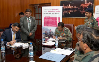 Axis Bank signed MoU with the Indian Army