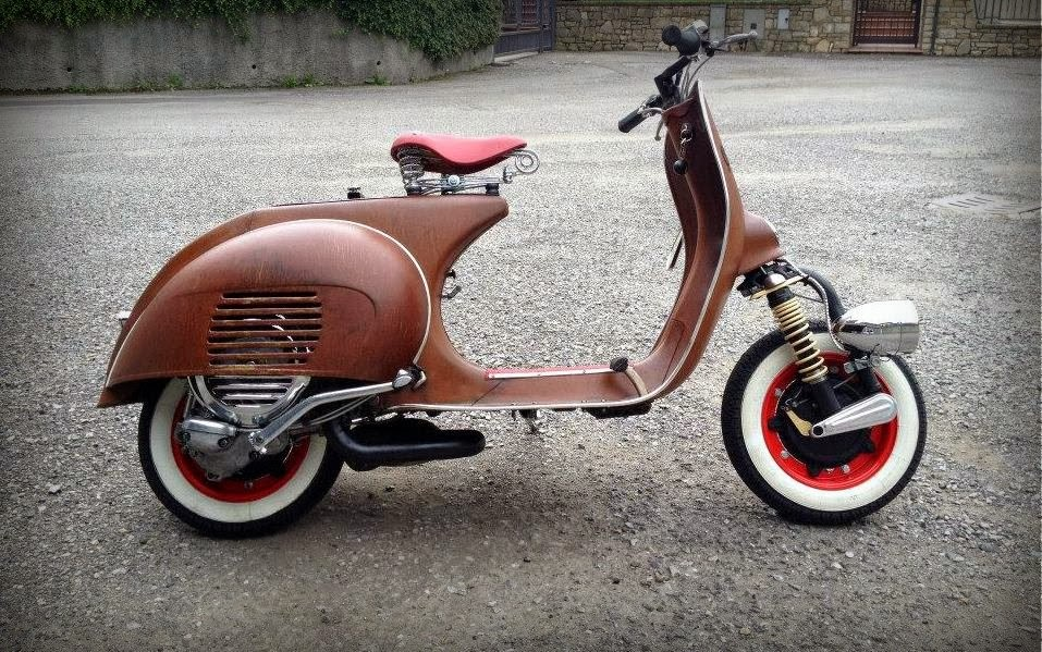 Vespa project 50 sfumature di ruggine rocketgarage for Vespa cafe racer