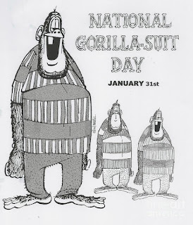 National Gorilla Suit Day is January 31