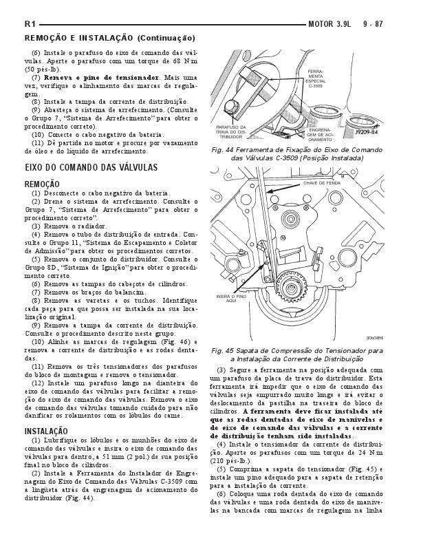 MANUAIS DO PROPRIETÁRIO: MANUAL MECÂNICO DODGE DAKOTA 1999