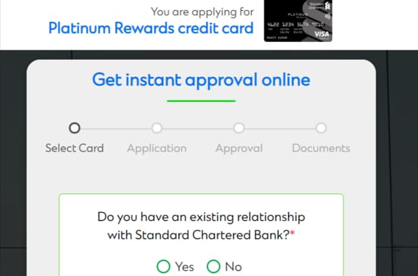 Standard Chartered Bank Platinum Rewards Credit Card Apply