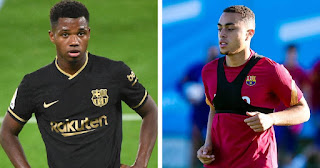 Two Barcelona youngsters Ansu Fati and Sergino Dest nominated for Golden Boy award