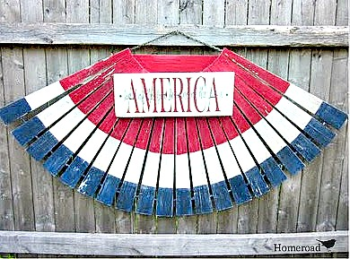 How to make American Flag bunting. Homeroad.net