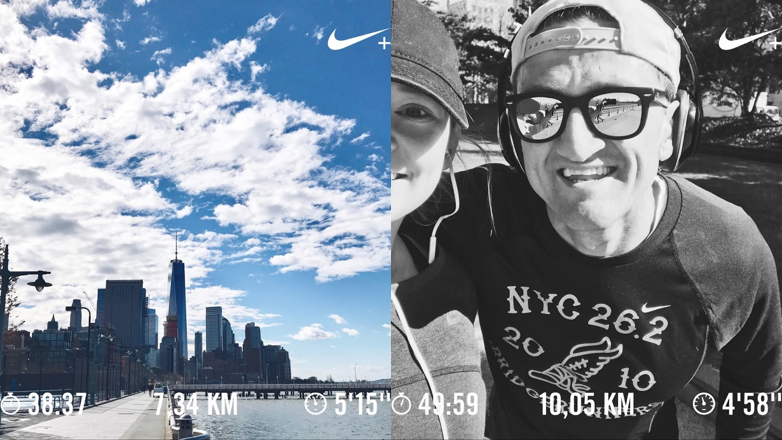 My first half marathon - meeting Casey Neistat westside highway