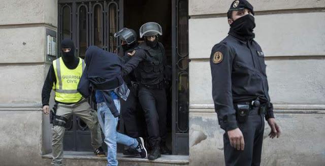 اعتقال مغربي وسينغالي بإسبانيا لعلاقتهما بالخلية الإرهابية المفككة