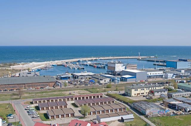 widok na port Władysławowo, widok z góry