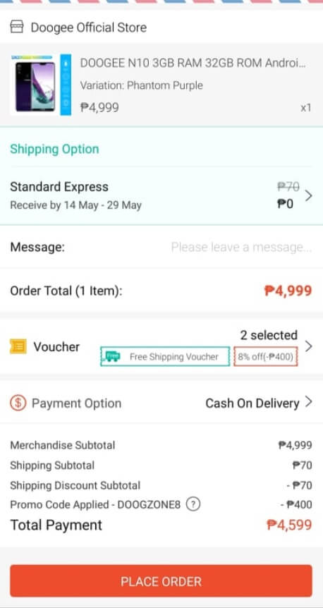 Doogee N10 Official Price at Shopee Philippines