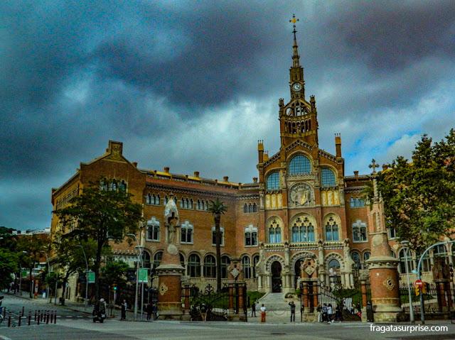 Barcelona: Hospital de Sant Pau e de la Santa Creu, no Eixample