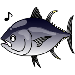 Blue fin tuna fish sticker