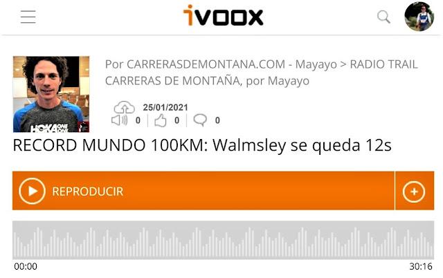 jim walmsley record mundo 100km
