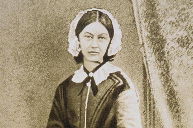 Imagem de Florence em vestes de enfermeira