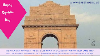 Indian Republic Day festival celebration Greetings free Download