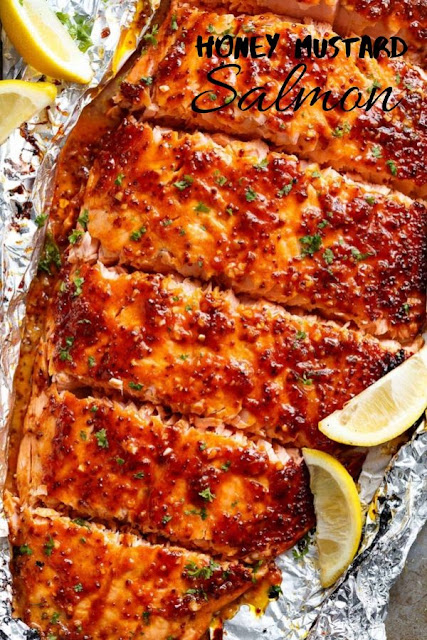 Honey Mustard Salmon #Honey #Mustard #Salmon Healthy Recipes Easy, Healthy Recipes Dinner, Healthy Recipes Best, Healthy Recipes On A Budget,