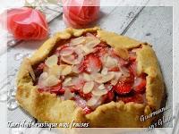 Tartelette rustique aux fraises, sans gluten, sans lait