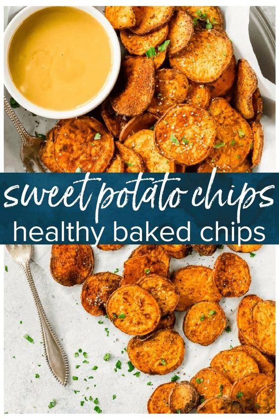 HOMEMADE BAKED SWEET POTATO CHIPS RECIPE