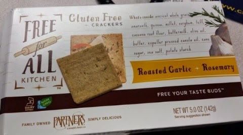 free for all roasted garlic and rosemary crackers