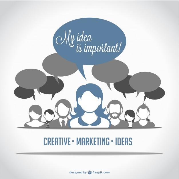 Marketing people avatars Free Vector