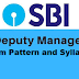 Exam Pattern and Syllabus - Deputy Manager Law - State Bank of India Recruitment 2020